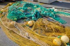 Δίχτυα του ψαρέματος σε Άγιο Jean de Luz, βασκική χώρα Στοκ Φωτογραφία