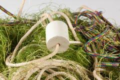 Δίχτυα του ψαρέματος σε ένα άσπρο υπόβαθρο Στοκ Φωτογραφία