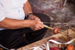 Δίχτυ του ψαρέματος κατασκευής Στοκ φωτογραφία με δικαίωμα ελεύθερης χρήσης