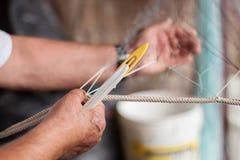 Δίχτυ του ψαρέματος κατασκευής Στοκ Φωτογραφίες