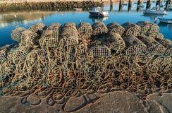 Δίχτυ του ψαρέματος στις αποβάθρες στοκ εικόνα