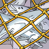 δίχτυ του ψαρέματος διανυσματική απεικόνιση