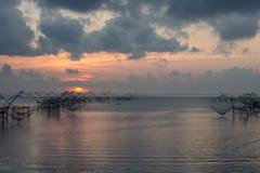 Δίχτυ ψαρέματος πρωινού Στοκ Φωτογραφίες
