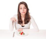 Δίλημμα διατροφής Στοκ φωτογραφία με δικαίωμα ελεύθερης χρήσης