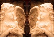 Δίδυμα αγάλματα αγγέλου Στοκ εικόνα με δικαίωμα ελεύθερης χρήσης
