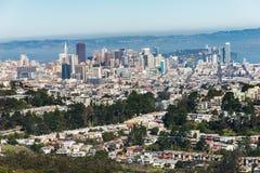 Δίδυμες αιχμές, Σαν Φρανσίσκο, Καλιφόρνια, ΗΠΑ Στοκ Φωτογραφία