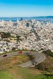 Δίδυμες αιχμές, Σαν Φρανσίσκο, Καλιφόρνια, ΗΠΑ Στοκ φωτογραφία με δικαίωμα ελεύθερης χρήσης
