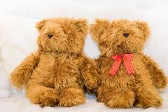 Δίδυμες teddy αρκούδες Στοκ εικόνα με δικαίωμα ελεύθερης χρήσης