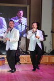 Δίδυμοι αδερφοί Αλέξανδρος και Eugene Anufriev -σκηνικών δραστών Στοκ Φωτογραφίες