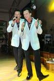 Δίδυμοι αδερφοί Αλέξανδρος και Eugene Anufriev -σκηνικών δραστών Στοκ Εικόνες