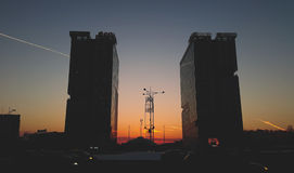 Δίδυμοι πύργοι Βουκουρέστι Στοκ φωτογραφία με δικαίωμα ελεύθερης χρήσης