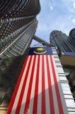 Δίδυμοι πύργοι της ΚΟΥΆΛΑ ΛΟΥΜΠΟΎΡ, ΜΑΛΑΙΣΙΑ Petronas, KLCC Στοκ εικόνα με δικαίωμα ελεύθερης χρήσης