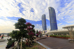 Δίδυμοι πύργοι Xiamen Στοκ εικόνες με δικαίωμα ελεύθερης χρήσης
