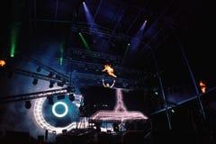 Δαβίδ Guetta Performing Live στοκ εικόνα