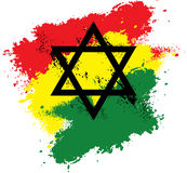 Δαβίδ Rastafarian Star Splash Στοκ Φωτογραφία