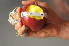 Δαγκωμένη διατροφή Apple Στοκ Φωτογραφίες
