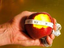 Δαγκωμένη διατροφή Apple Στοκ Εικόνες