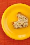 δαγκωμένος fruitcake Στοκ εικόνα με δικαίωμα ελεύθερης χρήσης