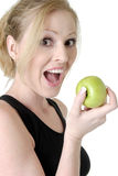 δαγκώματα μήλων στοκ φωτογραφία