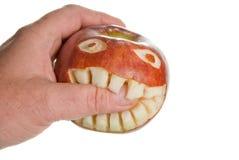 Δαγκώνοντας μήλο Στοκ Εικόνα