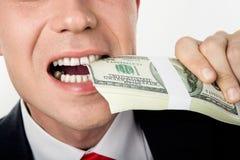 δαγκώνοντας χρήματα στοκ φωτογραφίες με δικαίωμα ελεύθερης χρήσης