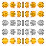 Δαιμόνια ζωτικότητας περιστροφής νομισμάτων κορωνών απεικόνιση αποθεμάτων