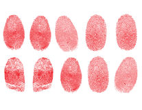 δακτυλικά αποτυπώματα π&omic Στοκ Εικόνες
