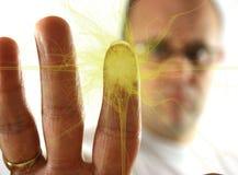 δακτυλικό αποτύπωμα έκρηξ& Στοκ εικόνα με δικαίωμα ελεύθερης χρήσης