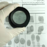 δακτυλικό αποτύπωμα καρ&tau Στοκ Φωτογραφίες
