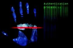 δακτυλικό αποτύπωμα πιστ& Στοκ φωτογραφία με δικαίωμα ελεύθερης χρήσης