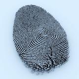 δακτυλικό αποτύπωμα διανυσματική απεικόνιση