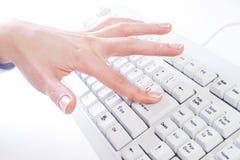 δακτυλογράφηση πληκτρ&omicron στοκ εικόνες