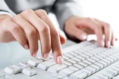 δακτυλογράφηση χεριών Στοκ εικόνες με δικαίωμα ελεύθερης χρήσης
