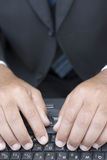 δακτυλογράφηση Στοκ εικόνα με δικαίωμα ελεύθερης χρήσης