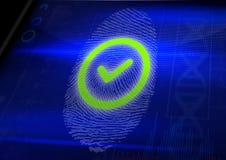 Δακτυλικό αποτύπωμα εντάξει Στοκ Εικόνες