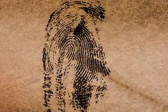 Δακτυλικό αποτύπωμα σε χαρτί Στοκ Φωτογραφίες
