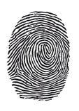 Δακτυλικό αποτύπωμα Στοκ φωτογραφίες με δικαίωμα ελεύθερης χρήσης