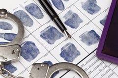 Δακτυλοσκοπήστε την κάρτα Στοκ Φωτογραφίες