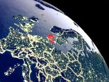 Δανία από το διάστημα διανυσματική απεικόνιση