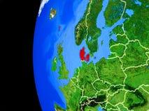 Δανία από το διάστημα ελεύθερη απεικόνιση δικαιώματος