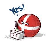 Δανία που ψηφίζει ναι ελεύθερη απεικόνιση δικαιώματος