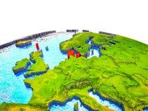 Δανία στην τρισδιάστατη γη διανυσματική απεικόνιση