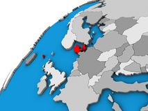 Δανία στην τρισδιάστατη σφαίρα διανυσματική απεικόνιση