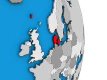 Δανία στην τρισδιάστατη σφαίρα ελεύθερη απεικόνιση δικαιώματος