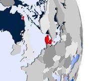 Δανία στη σφαίρα απεικόνιση αποθεμάτων