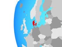 Δανία στη σφαίρα διανυσματική απεικόνιση