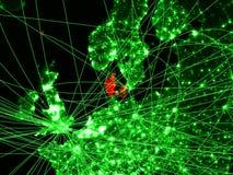 Δανία στον πράσινο χάρτη απεικόνιση αποθεμάτων