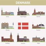 Δανία. Σύμβολα των πόλεων ελεύθερη απεικόνιση δικαιώματος