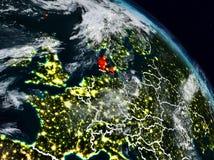 Δανία τη νύχτα διανυσματική απεικόνιση