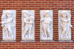 Δανία Το πάρκο Tivoli cupids Στοκ εικόνα με δικαίωμα ελεύθερης χρήσης